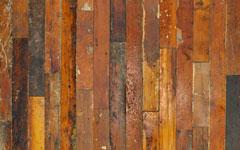 メープルの無垢古材板。壁や腰板など内装や家具の材料に。