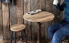 チーク古材の無垢木製天板。飲食店のテーブルやdiyのデスクに。