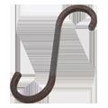 ずっしり重い鉄製Sカン