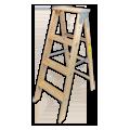 クラシックな木製脚立