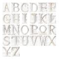 アンティーク仕上げの木製切り文字
