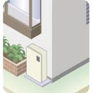 直圧式屋外据置型