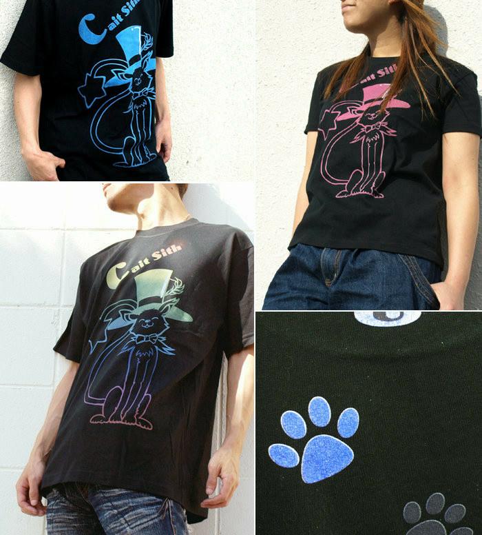 可愛い猫柄のレディース アメカジTシャツ