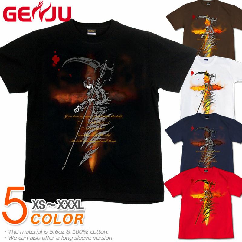 死神/スカル メンズ ストリート系半袖Tシャツ