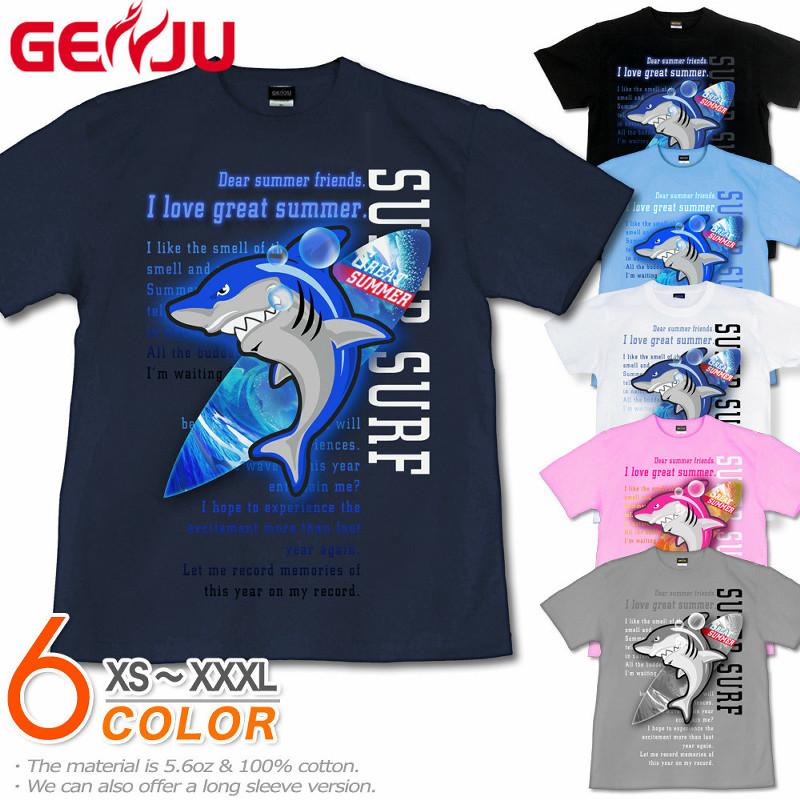 サメ 鮫 Tシャツ