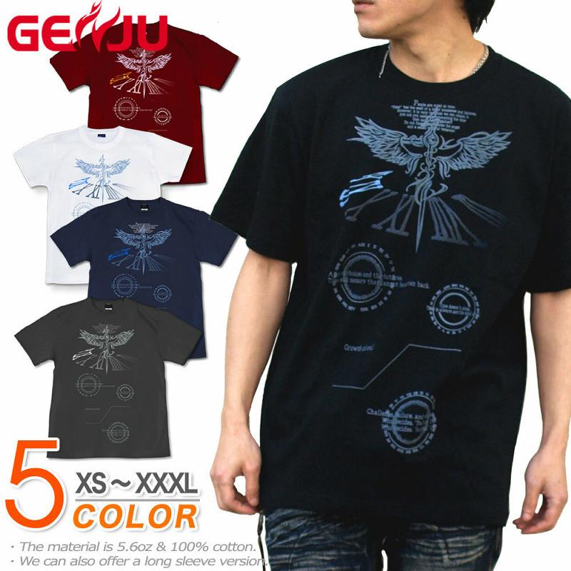 天使の刻 メンズ ストリート系半袖Tシャツ