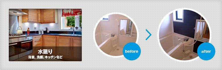 水回り 浴室、洗面、キッチンなど