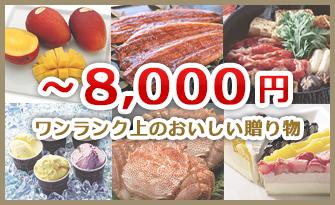 8,000円の産直グルメギフト