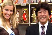 ミスインターナショナルと京都シルク株式会社社長