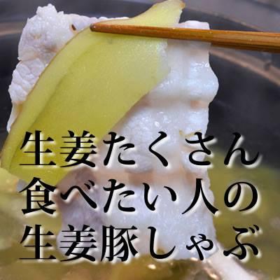 生姜しゃぶしゃぶ