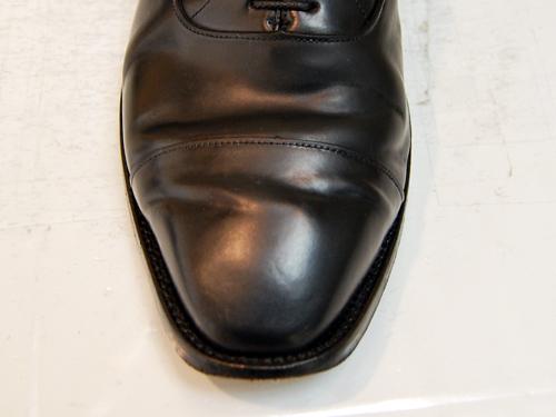 落としたところ[靴磨き|革靴の磨き方]