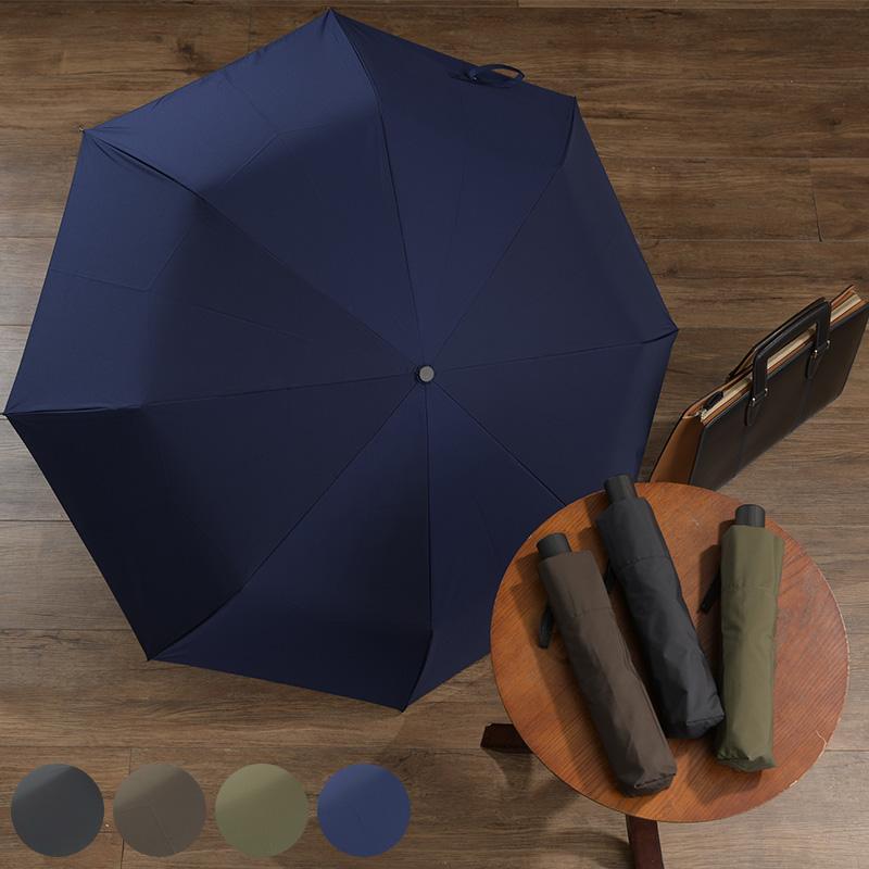 メンズ 折りたたみ傘 自動開閉 強力撥水 レインドロップ レクタス 8本骨 58cm Wジャンプ