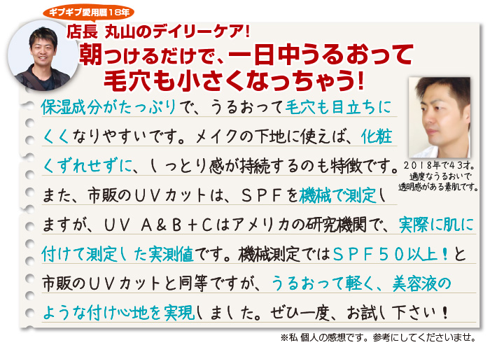 Give&Giveの日焼け止め UV A&B+C