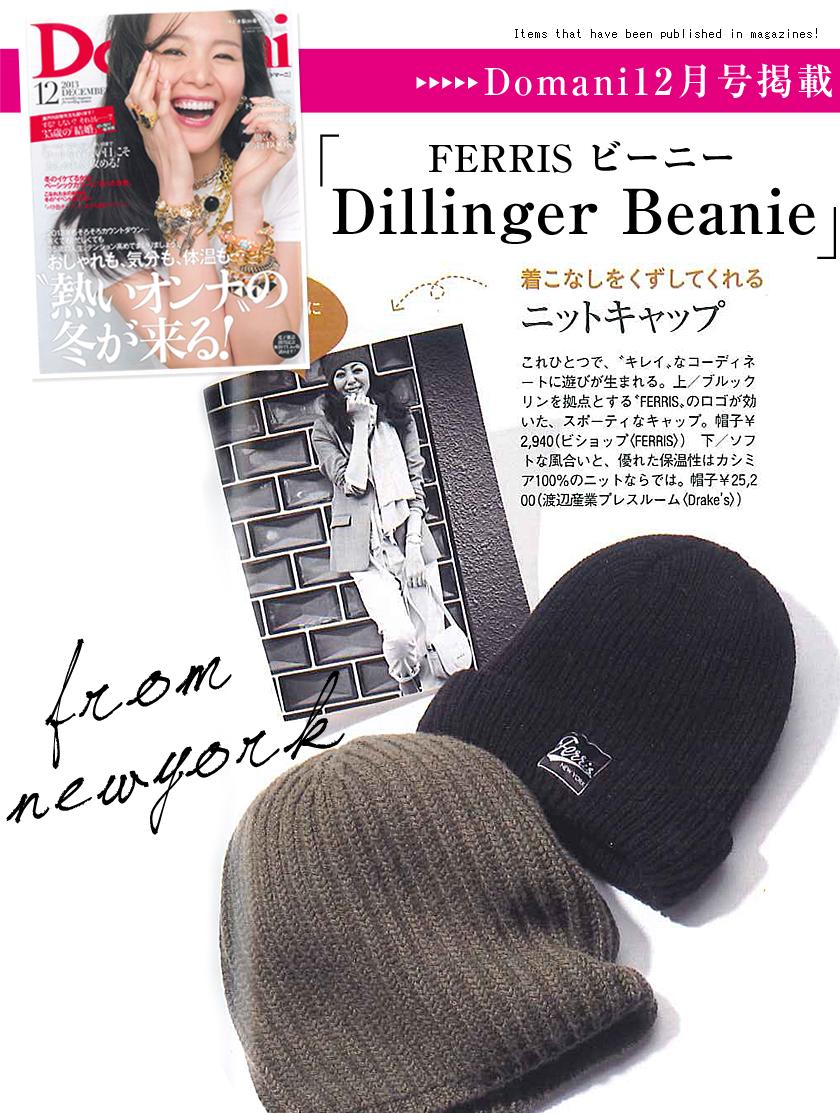 FERRIS �ե��ꥹ �ӡ��ˡ� �˥å�˹ �֥��� �? ��� �� Dillinger Beanie ��