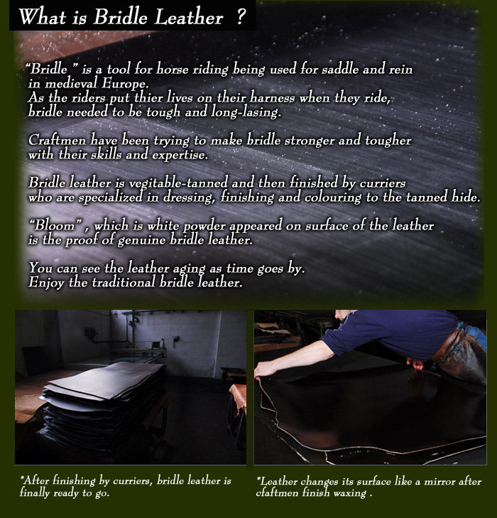 british bridle leather