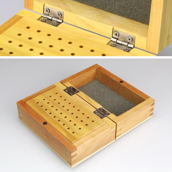 スピンブレード用 木製ビットケース 蝶つがい