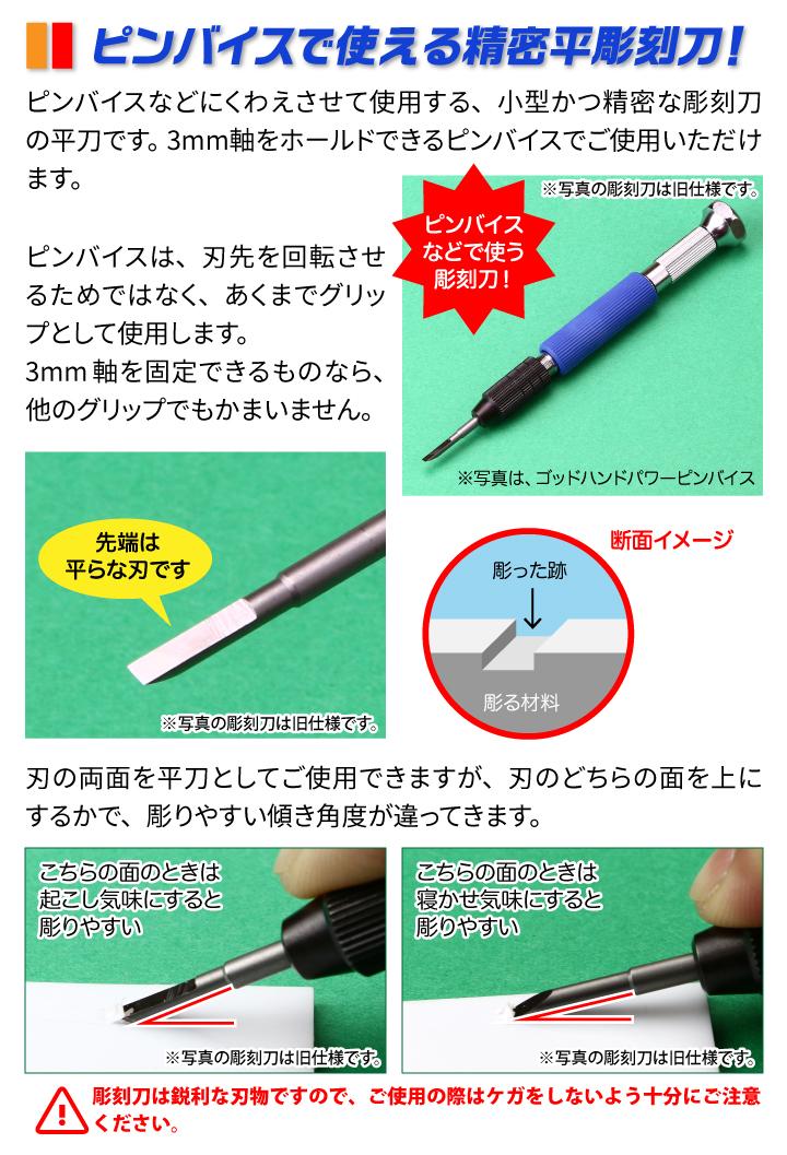ピンバイスで使える精密彫刻刀!