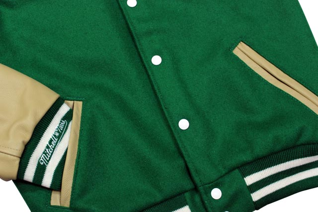 a1a7e6e7b71 growaround  MITCHELL NESS NFL VARSITY JACKET (New York Jets  GREEN ...