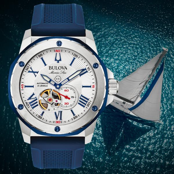 【無金利ローン可】 ブローバ [BULOVA] マリンスター [Marine Star] 98A225 オープンハート メンズ 腕時計 時計