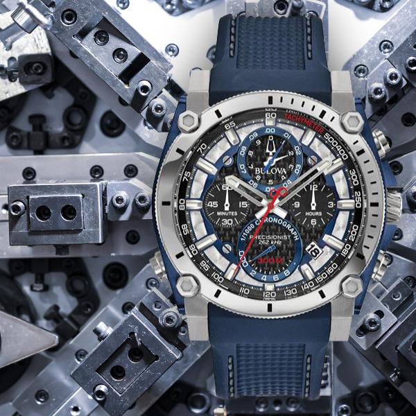 【無金利ローン可】 ブローバ プレシジョニスト [BULOVA PRECISIONIST] シャンプレーン [Champlain] 98B315 クロノグラフ メンズ 腕時計 時計