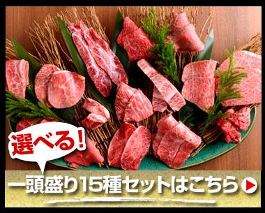 さらに選べる!一頭盛り15種セットはこちら 特別価格7,400円(税別)