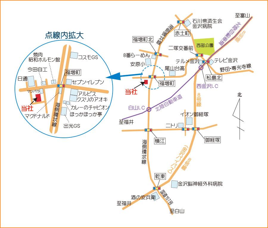 当社までの地図
