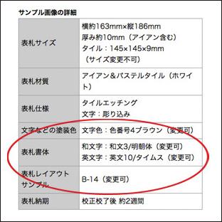 サンプルの詳細表