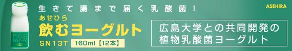 あせひらのむヨーグルトSN13T 160ml 【12本】