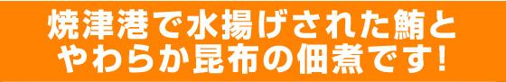 焼津港で水揚げされた鮪と柔らか昆布の佃煮です!