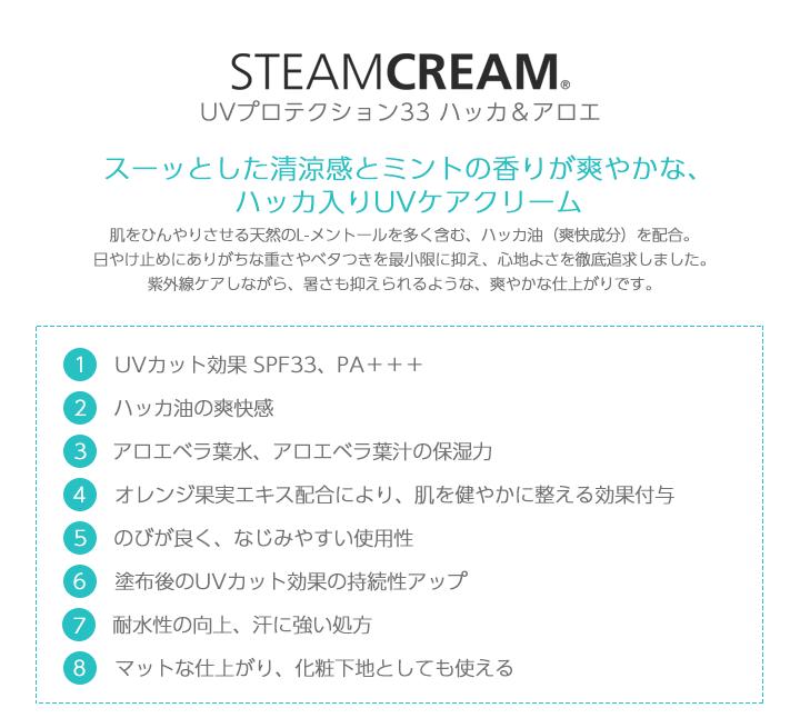 スチームクリームUV詳細中