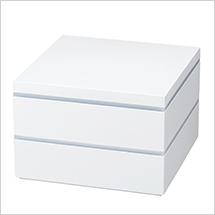 縁起がいいと人気の9つ仕切小鉢が付属!ホワイトでは最大サイズ!
