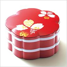 桜型のオードブルはお祝いやおもてなしの席にピッタリ。