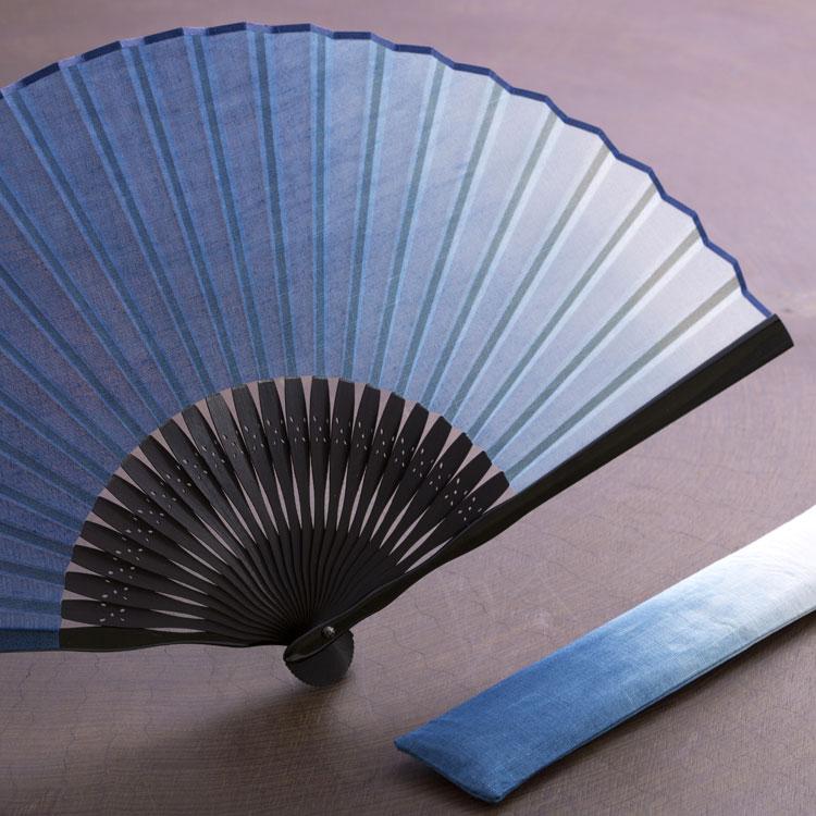 第5位【京扇子】本藍染扇子セット送料無料