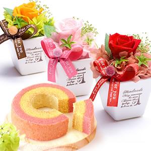 手のひらお姫様      プリザーブドフラワー 3種カップケーキセット