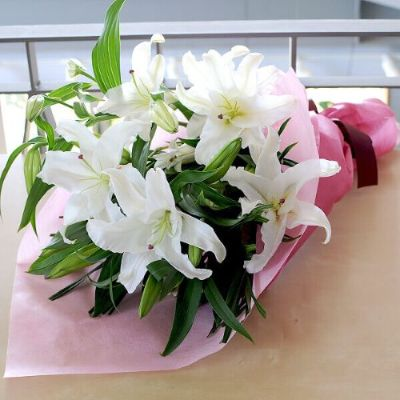 白百合の花束