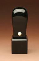 角印/黒水牛(芯持) 21.0mm