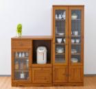 アンティークタイプの食器戸棚◆取っ手が魅力