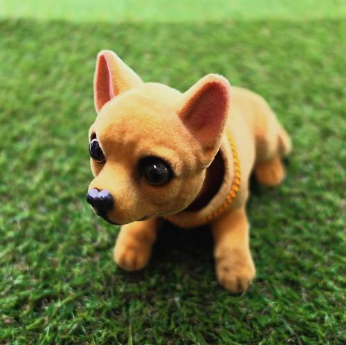 犬の置物,首振りドッグ,チワワ犬,首振り人形,バブルヘッド,犬の置き物,首が揺れる置き物,首振り犬,癒しグッズ,赤べこ