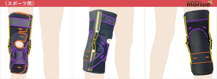 スポーツ用膝サポーター/エクスエイドニーACL