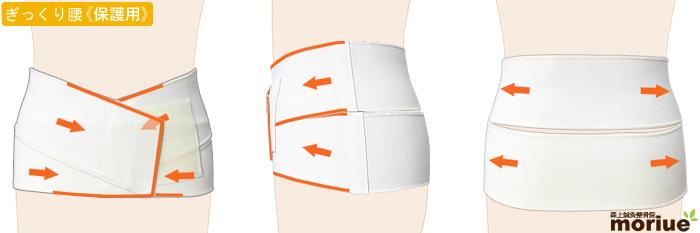 ぎっくり腰用腰痛ベルト/腰椎ヘルパー005全体図