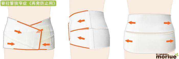 脊柱管狭窄症用腰痛ベルト/腰椎ヘルパー005/全体図