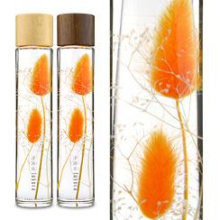 ハーバリウム(浮游花/フユカ)ラグラス、プレミアムタイプ、オレンジ