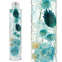ハーバリウム(浮游花/フユカ)、ミックスタイプのブルー系花材