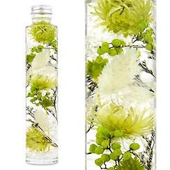 ハーバリウム(浮游花/フユカ)、ミックスタイプのグリーン系花材