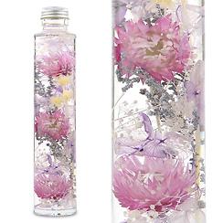 ハーバリウム(浮游花/フユカ)、ミックスタイプのパープル系花材