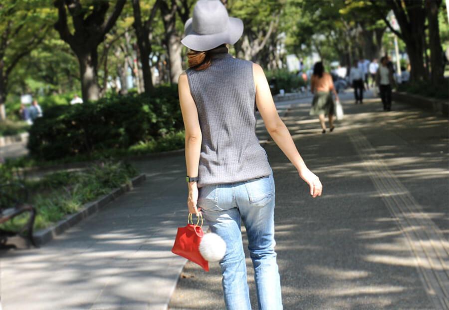 【在庫限り・残りわずか】【ドラマ衣装協力品】本革ミニバッグ【Enhaut アンオー】日本製 丸金具の持ち手バッグ