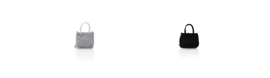 メッシュミニショルダーバッグ レディース ワイヤーコード×リボン【Leplanay ルプリネ】ヘイニ バッグ