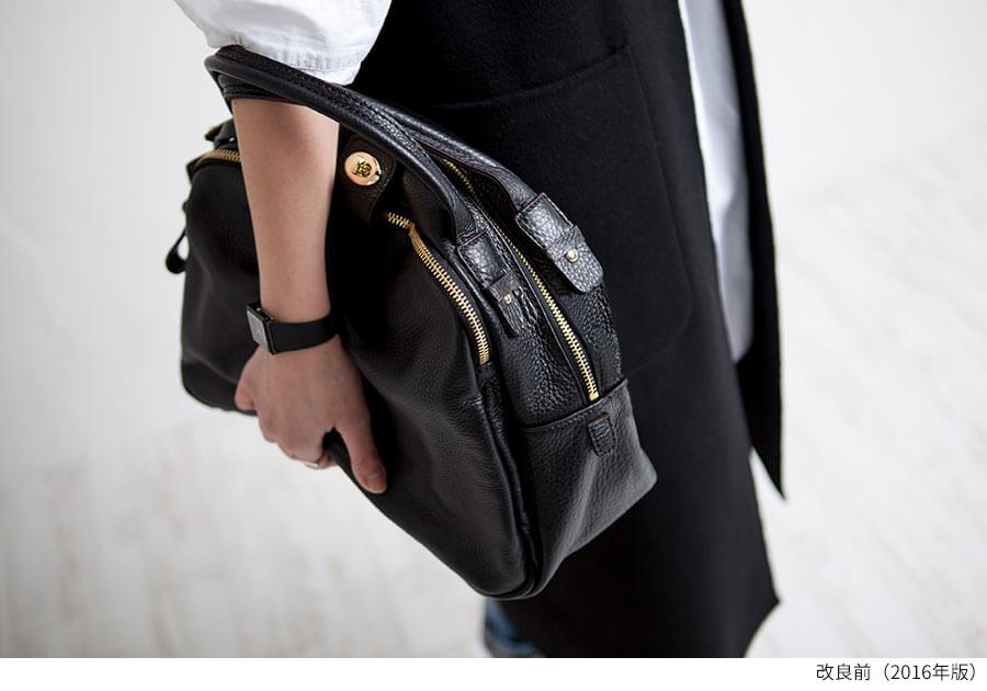 本革ショルダーバッグ ブラック、黒