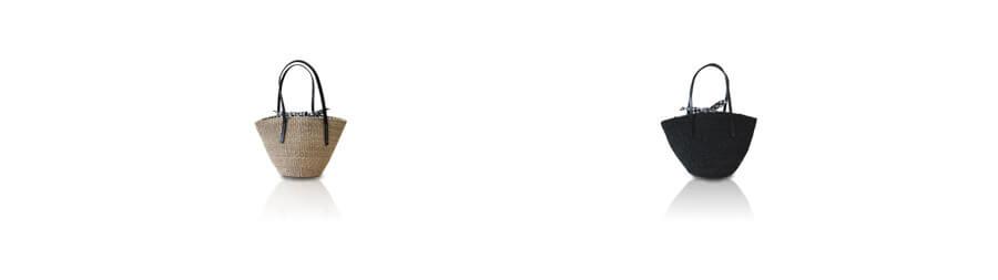 本革 ギンガムチェック 天然草かごバッグ レディース【Quadri クアドリ】Mサイズ 人気 by HAYNI