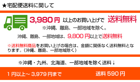 3,980円以上のお買い上げで送料無料
